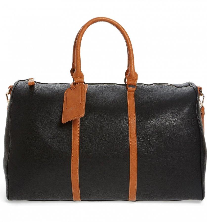 \'Lacie\' Faux Leather Duffel Bag