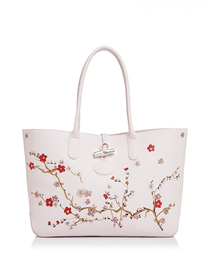 Roseau Sakura Leather Tote