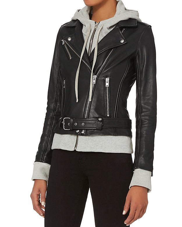 Harper Combo Leather Jacket
