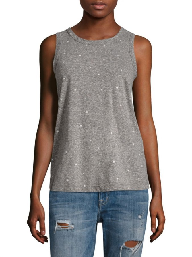 Falling Stars Cotton Muscle Tee