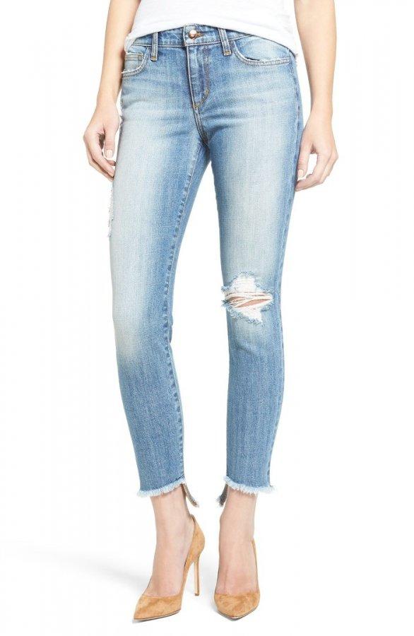 Blondie Ripped Ankle Skinny Jeans