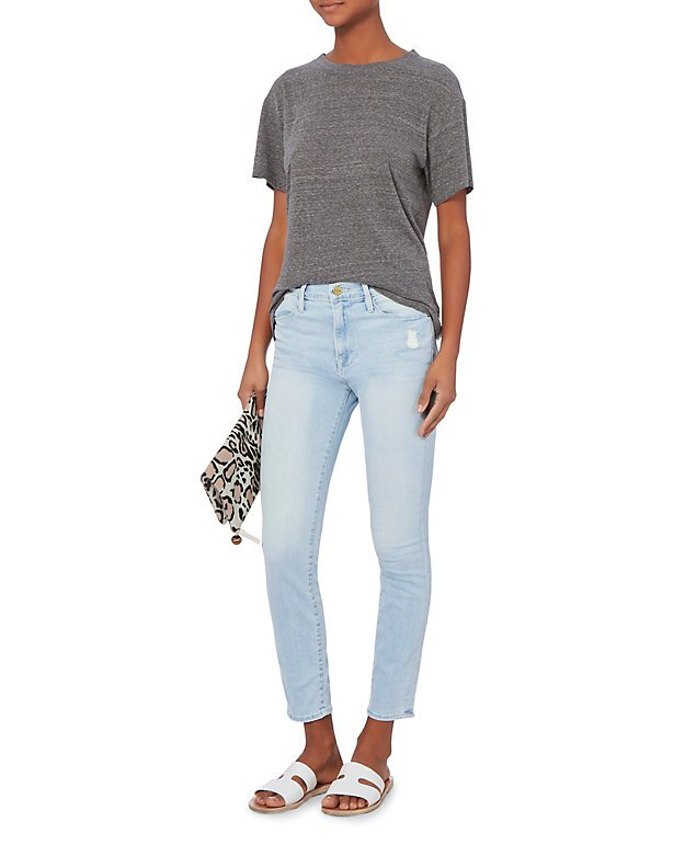Le High Light Skinny Crop Jeans