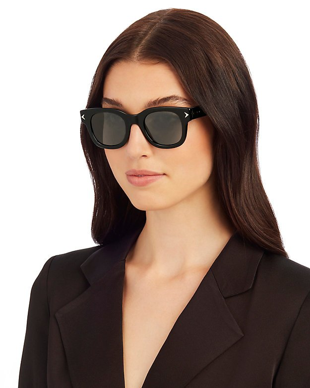 Black Crystal Wayfarer Sunglasses