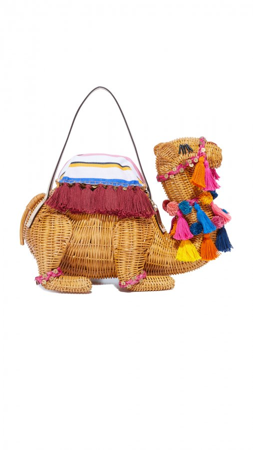 Wicker Camel Bag