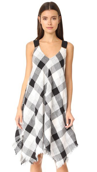 Asymmetrical Drape Strap Dress