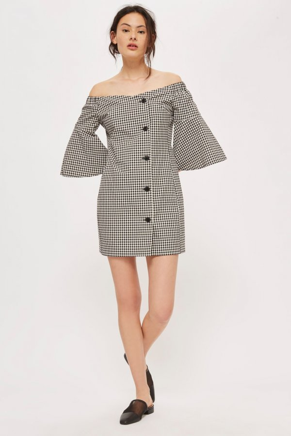 Gingham Blazer Dress