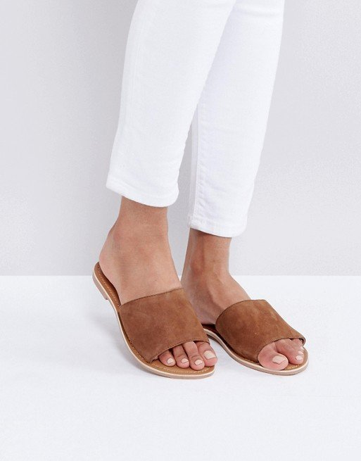 New Look Suede Flat Mule