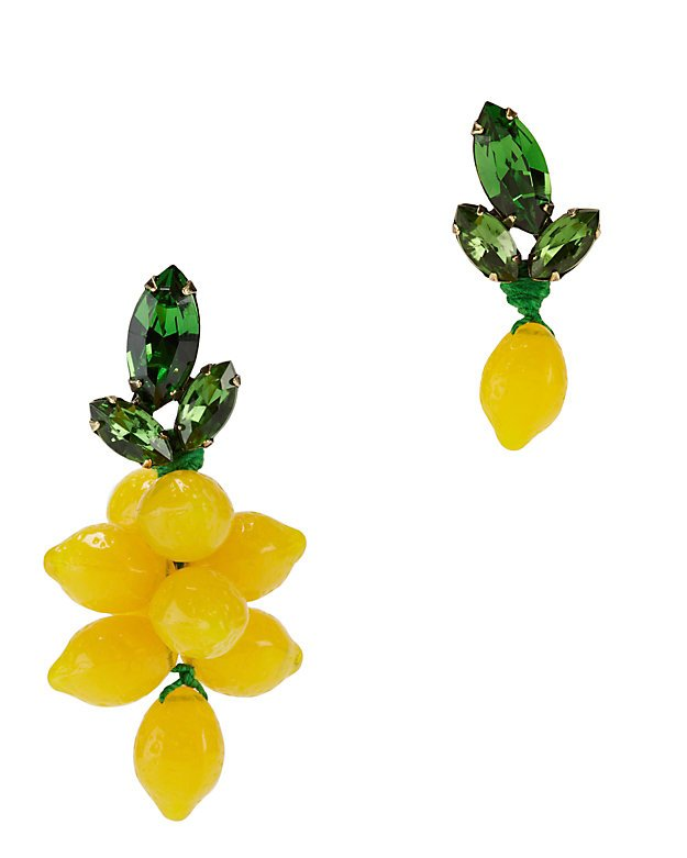 Mismatched Lemon Earrings