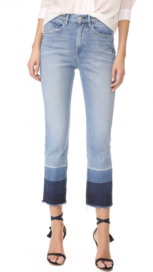 Shelter Straight Leg Cropped Jeans