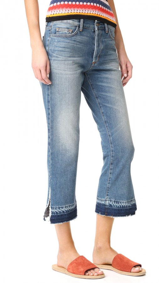 Jane B Crop Straight Jeans