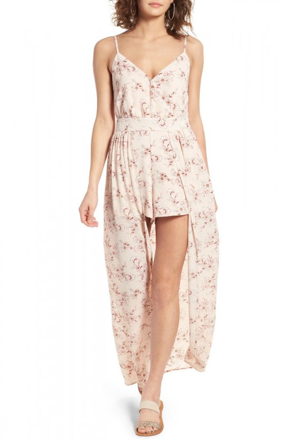 Floral Print Walk Through Romper