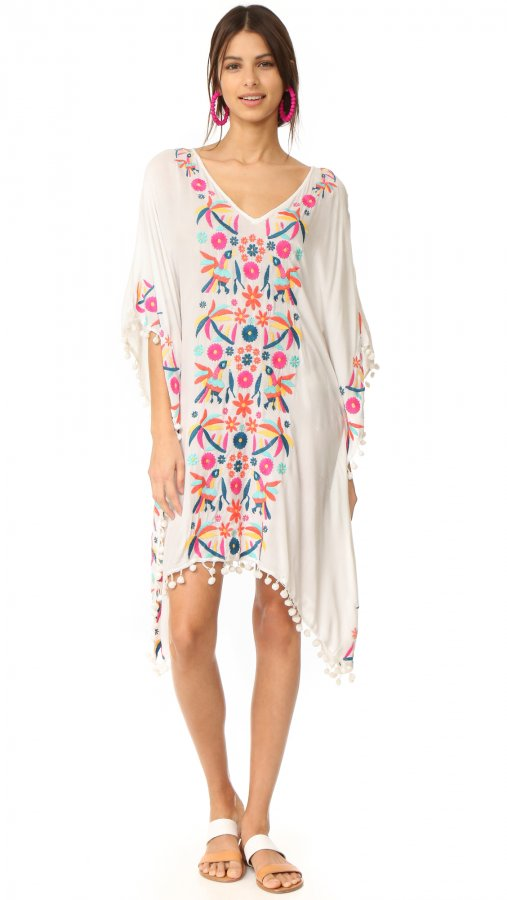 Coquina Embroidered Caftan