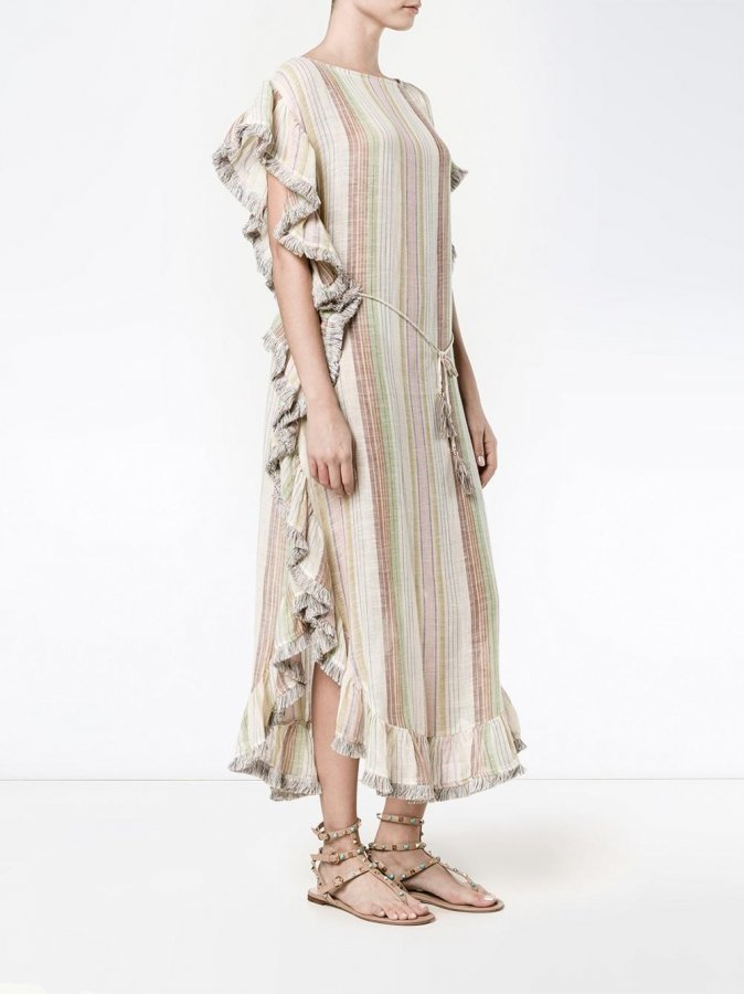 Tropicale striped Kaftan Dress
