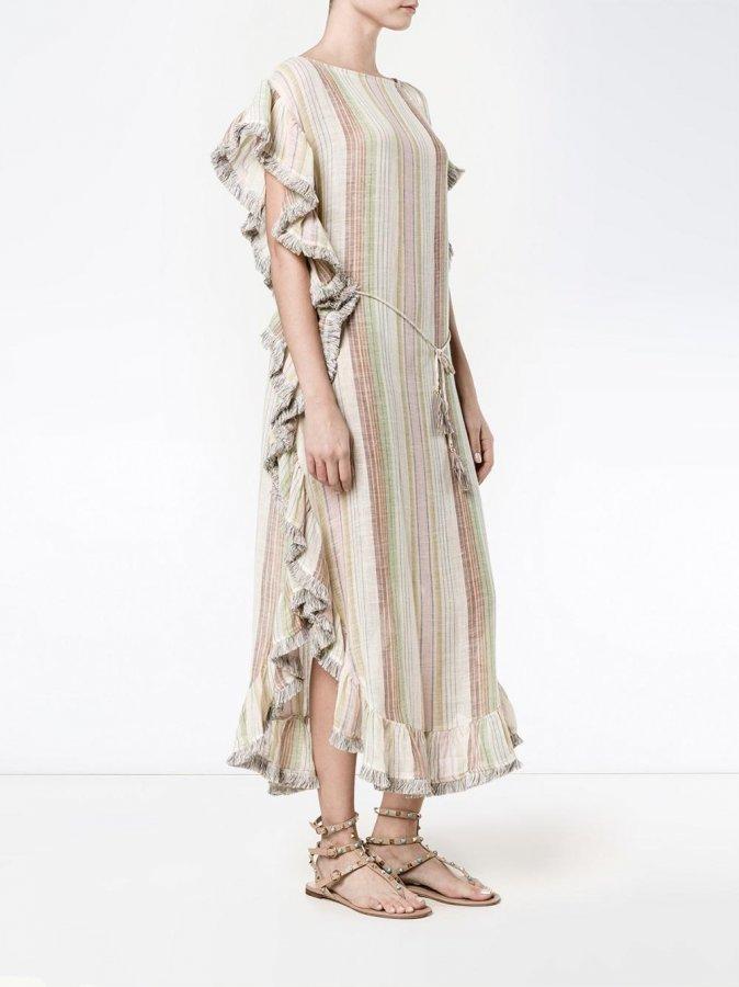 Tropicale striped Kaftan Dress