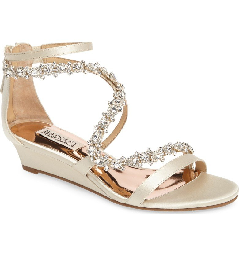 Belvedere Embellished Wedge Sandal