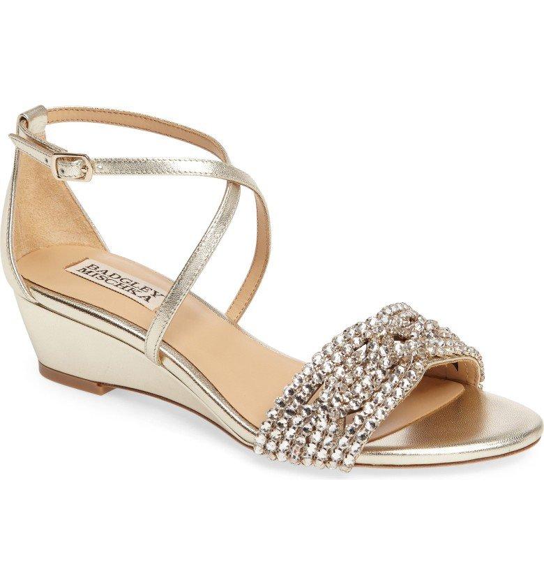 Tressa Embellished Wedge Sandal