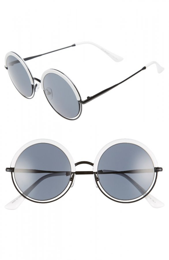 Pancakes 52mm Gradient Lens Round Sunglasses