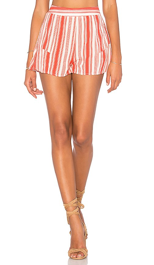 Striped Ruffle Short