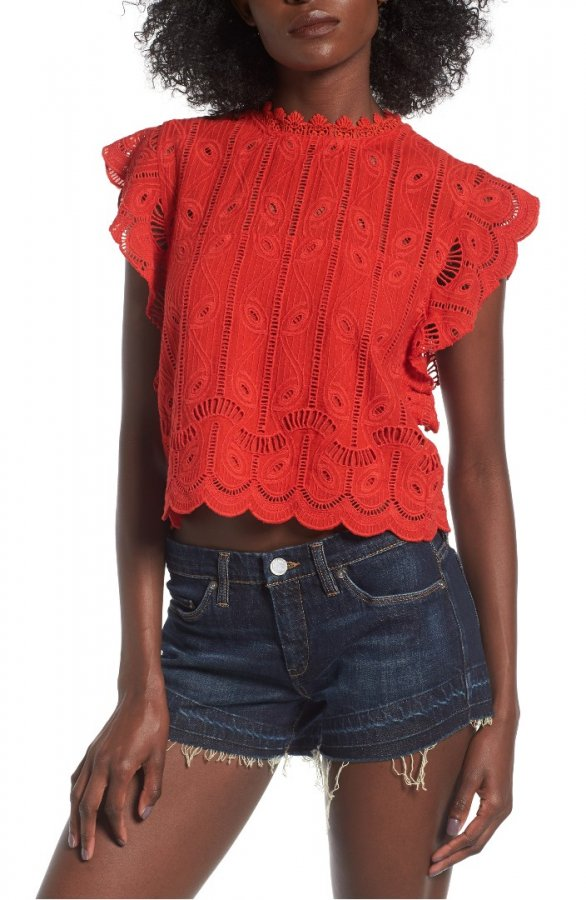 Clayton Eyelet Crop Top