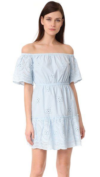 Sorena Eyelet Off Shoulder Dress