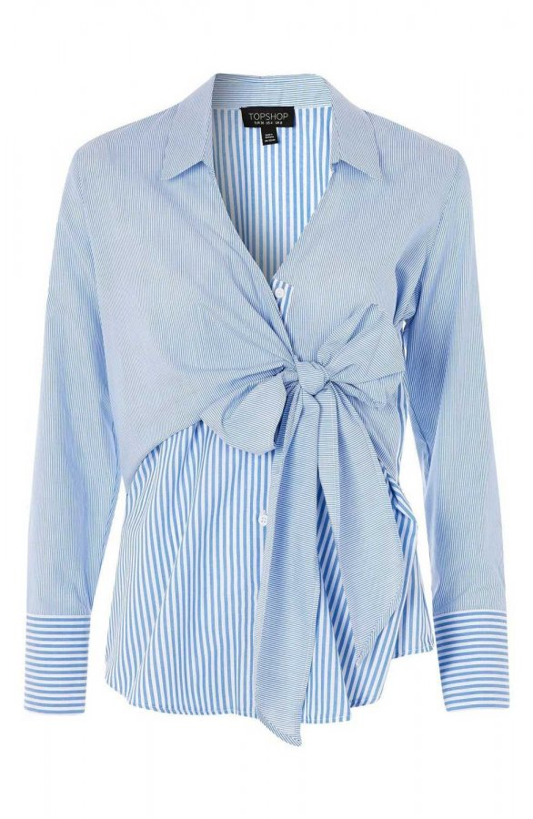 Tie Wrap Stripe Shirt