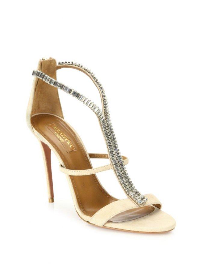 Constance Crystal-Embellished Suede Sandals