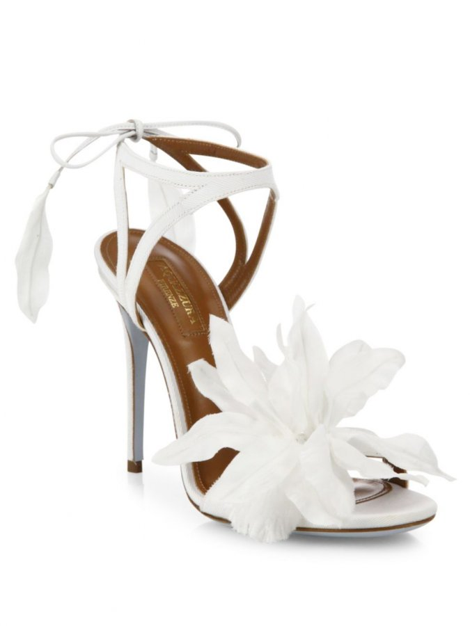 Flora Satin Back-Tie Sandals