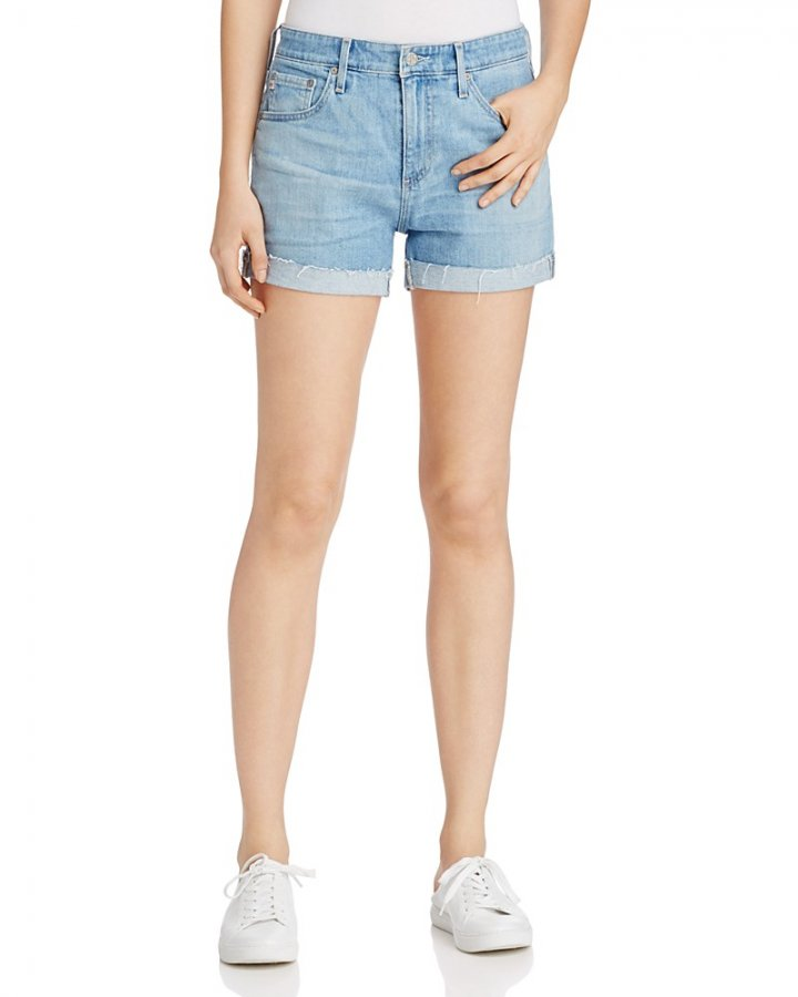 Hailey Rolled Cuff Denim Shorts