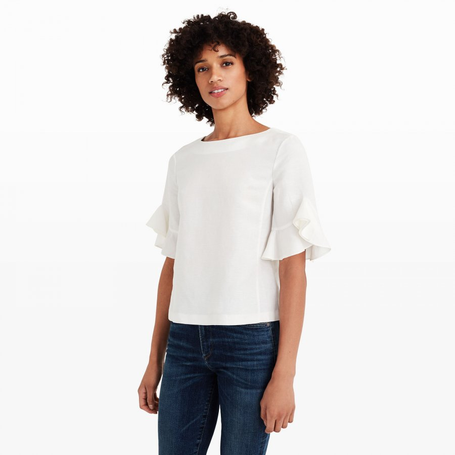 Hatleth Ruffle-Sleeve Top
