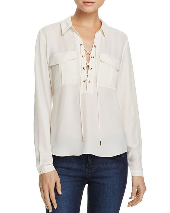 The Safari Lace-Up Blouse