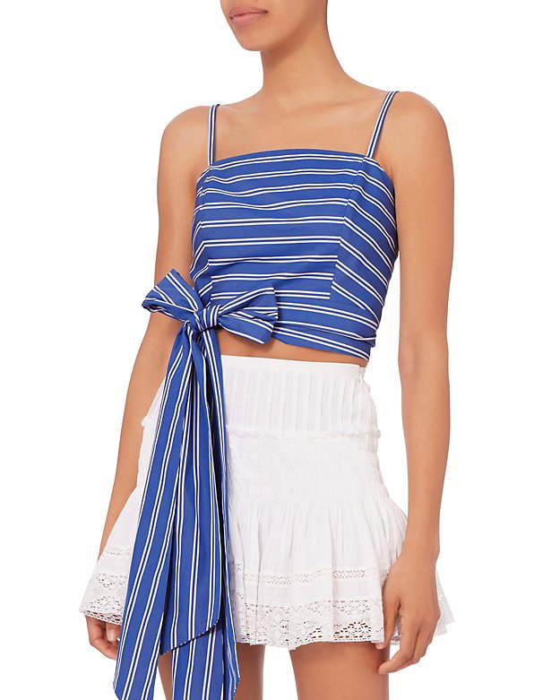 Everything Wrap Blue Stripe Top