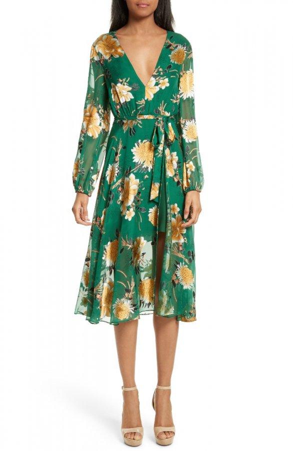 Coco Floral Print A-Line Dress