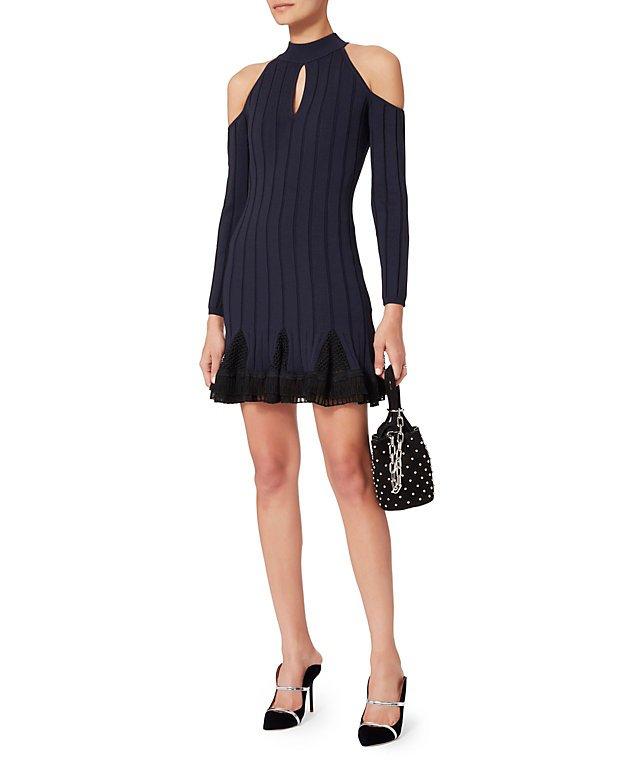 Cold Shoulder Combo Dress