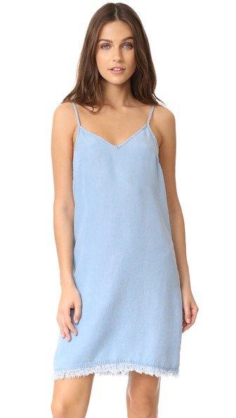 Chambray Slip Dress