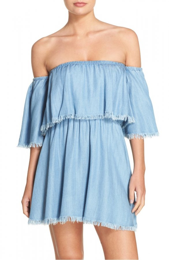 Off the Shoulder Cover-Up Dress