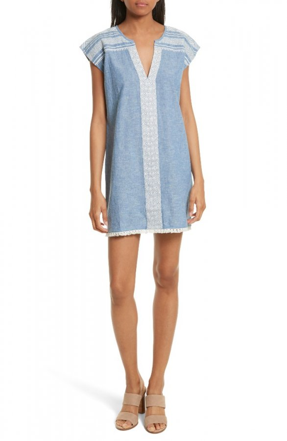 Natali Chambray Shift Dress