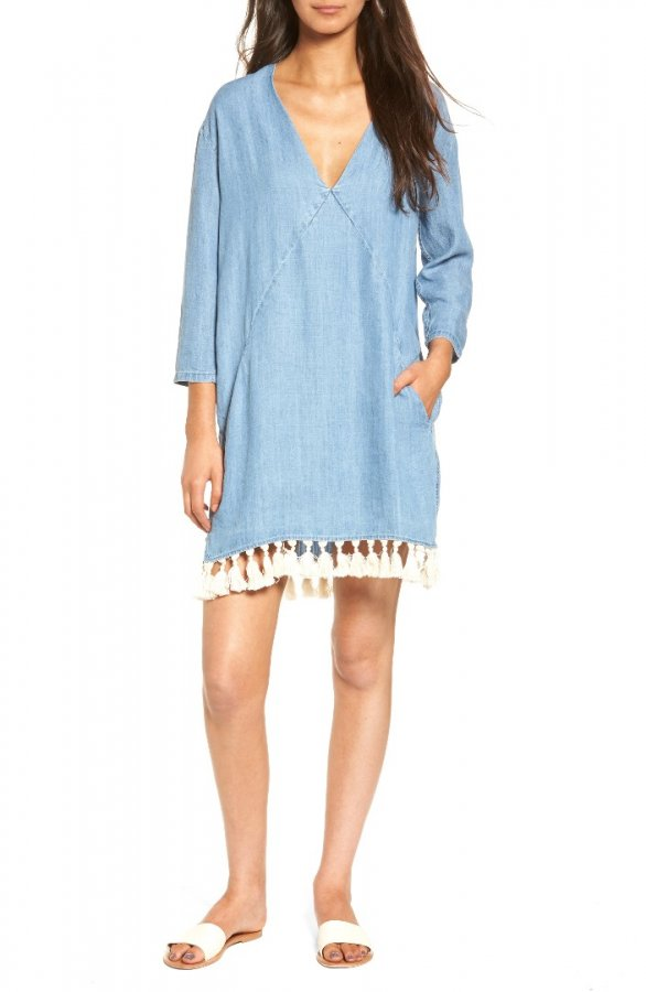 Elena Chambray Tunic Dress