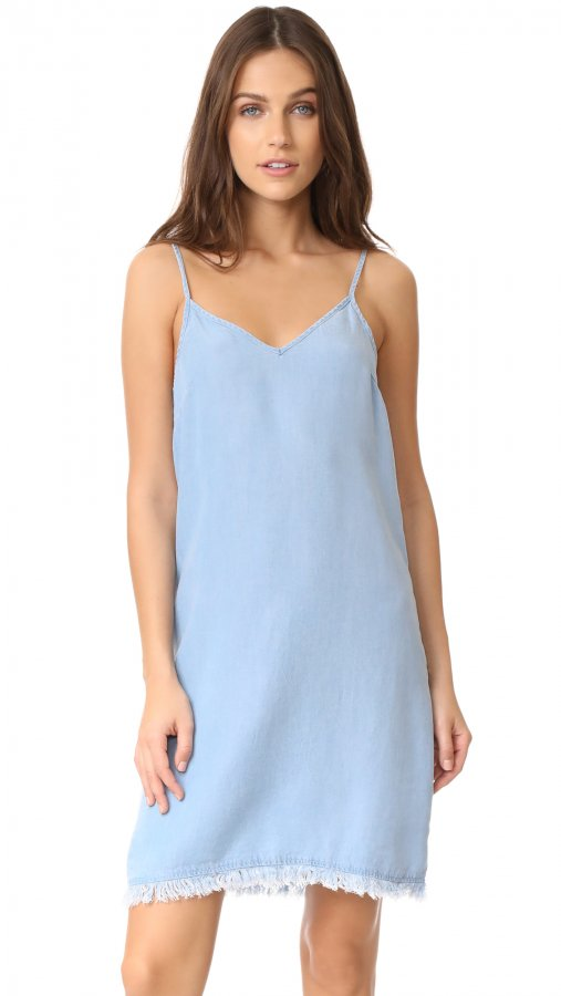 Chambray Slip Dress