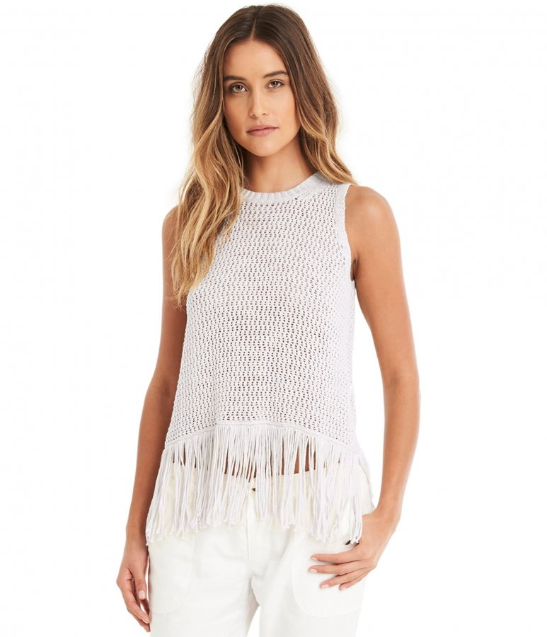Split Back Fringe Tank