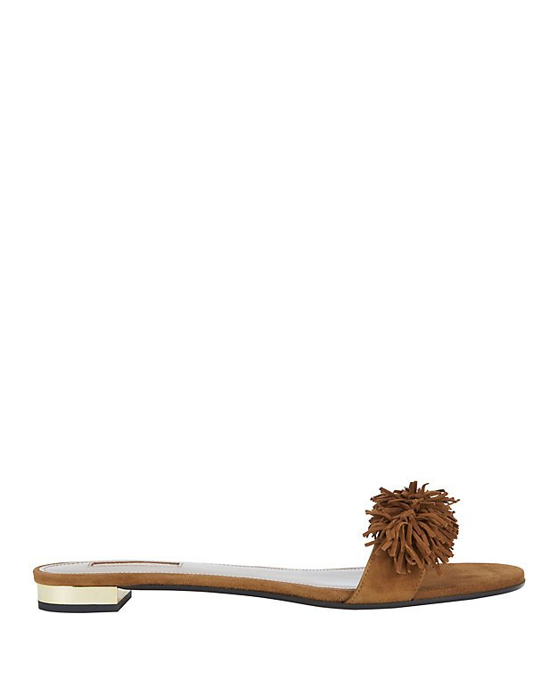 Wild Thing Fringed Suede Brown Sandals