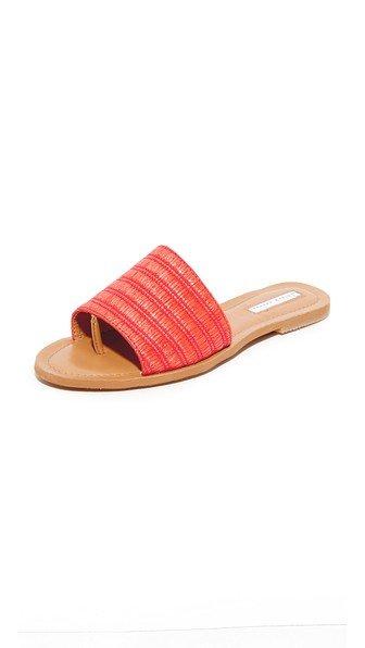 Raffia Slide Sandals