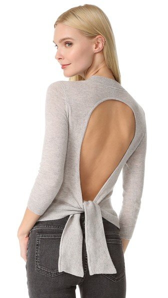 Open Back Cashmere Sweater