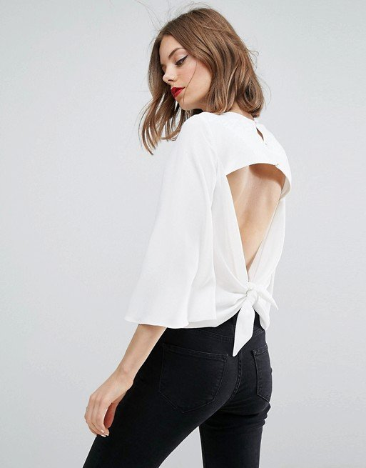 Tee with Open Knot Back