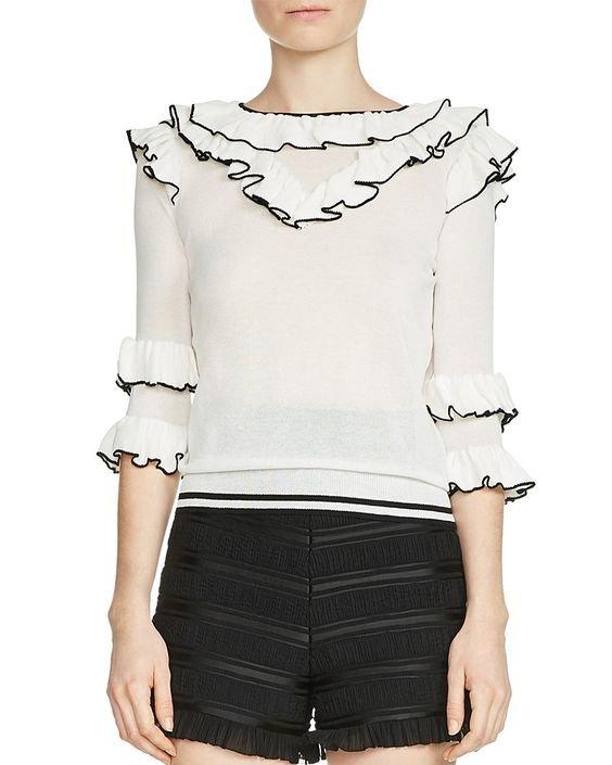 Moreno Tiered-Ruffle Sweater
