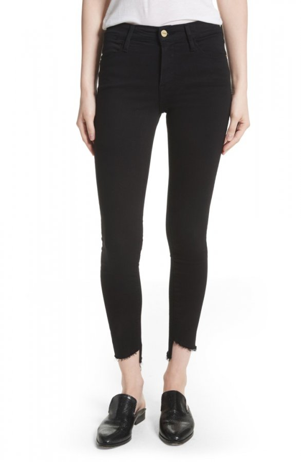Le High Skinny Step Hem Jeans