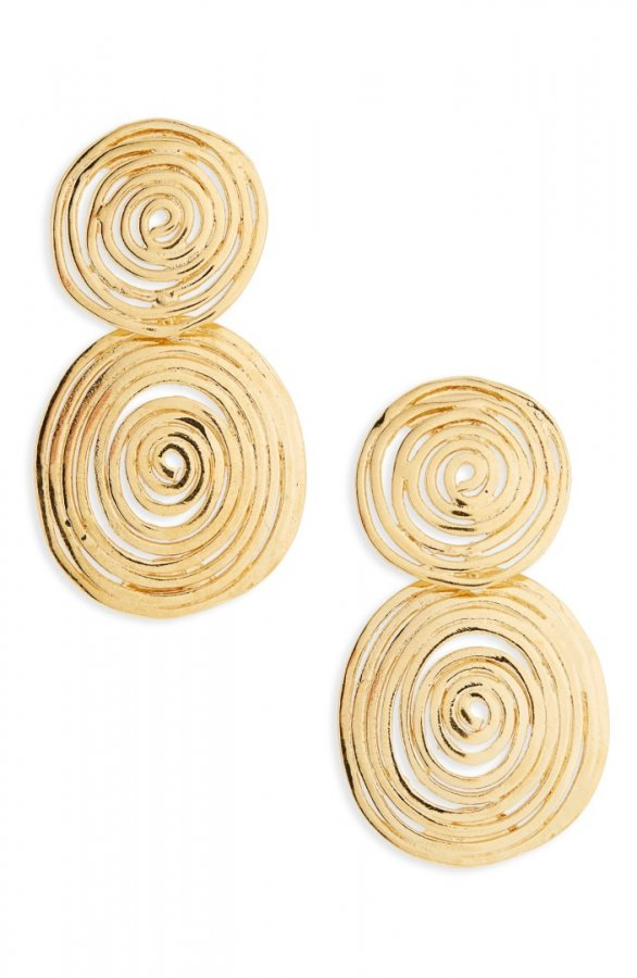 Wave Small Drop Earrings
