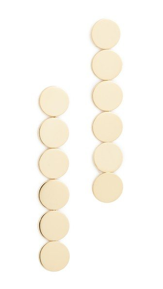 Gold Circles Linear Drop Earrings