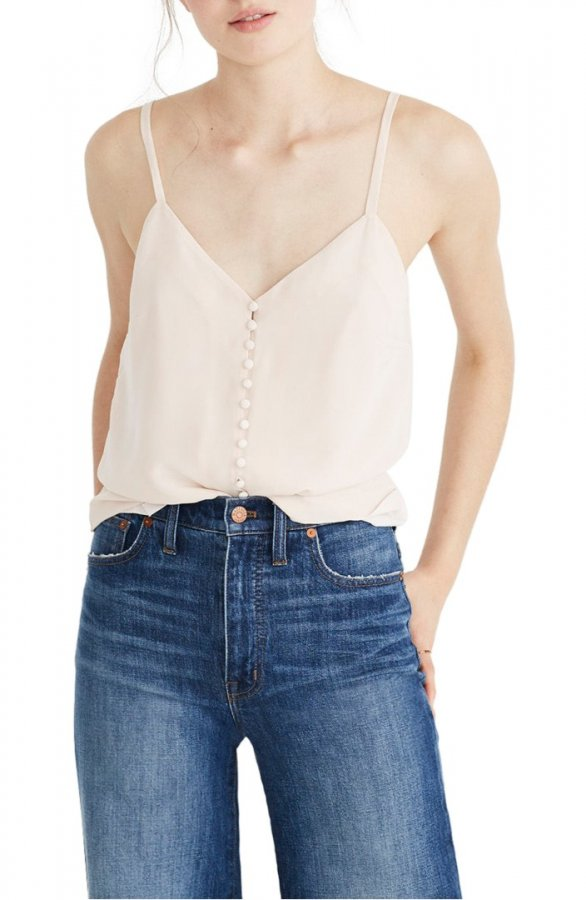 Silk Button Down Camisole