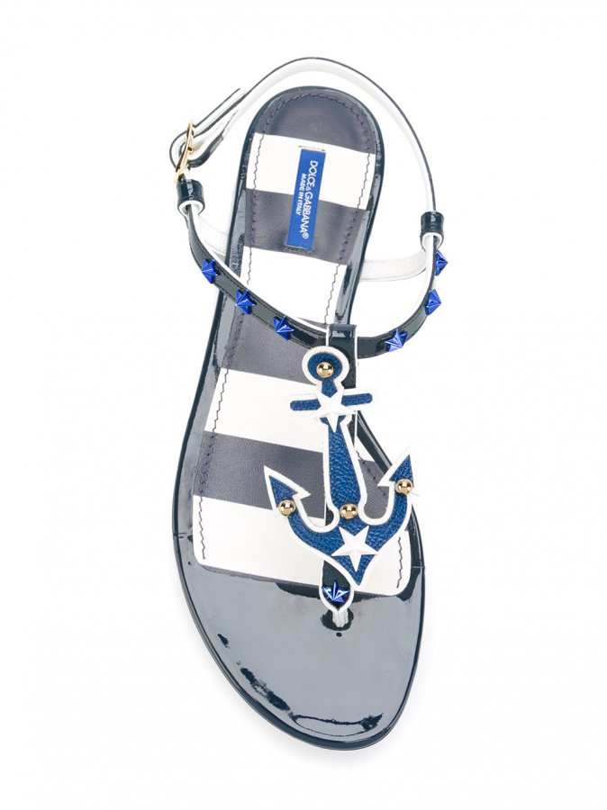 Nautical Flat Sandals
