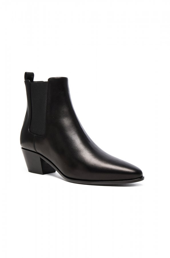 Rock Leather Chelsea Boots